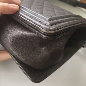 CHANEL Bags - Authentic Chanel Le Boy Calfskin Old Medium